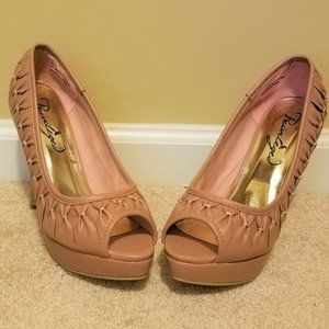 Privileged Pink/Mauve High Heel Shoes, Size 8.5